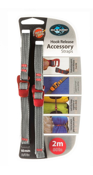 Sea to Summit Tie Down Accessory Strap with Hook 10mm, 2m